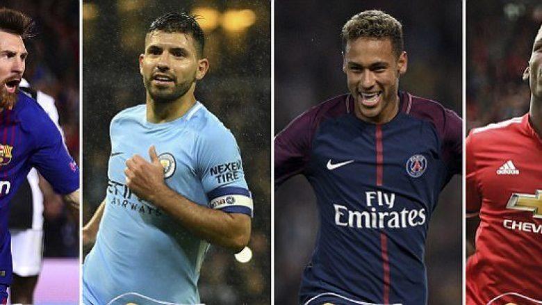 Klubet me pagat më të larta në Evropë dhe lojtarët e super paguar të këtyre klubeve- Reali i gjashti, prijnë sheikët e Cityt (Foto)