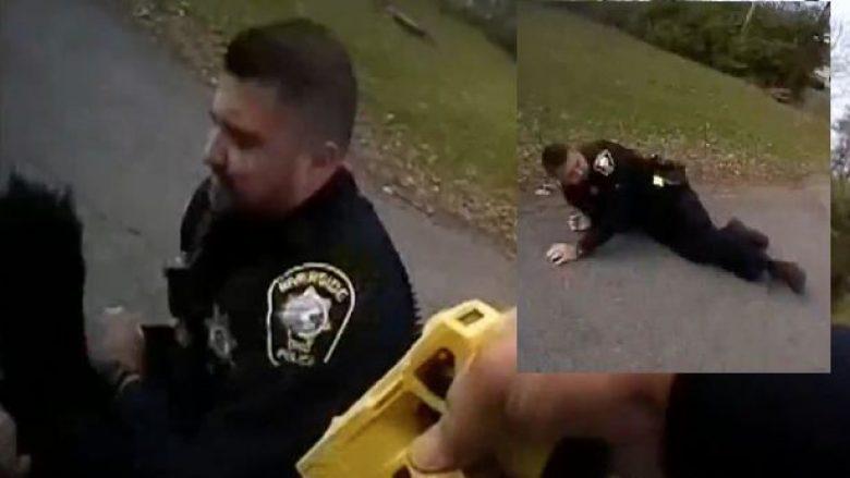 Tentuan ta arrestonin një burrë, polici godet me elektroshok kolegun e tij (Video)