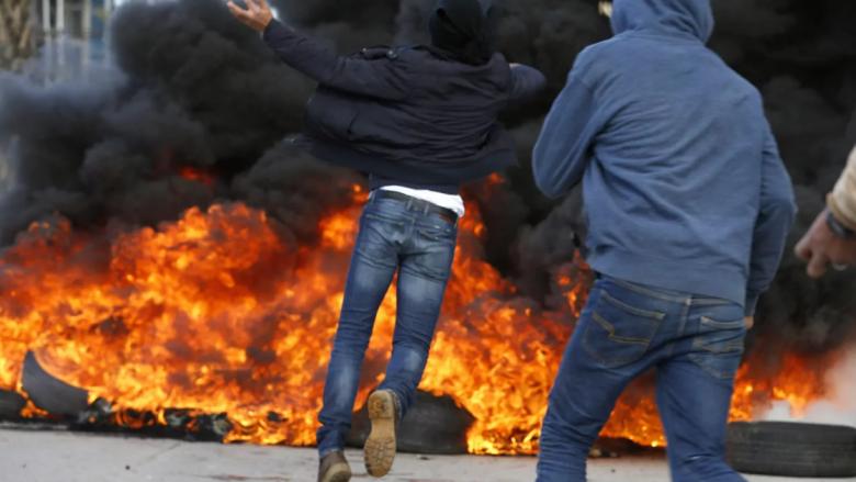 Protesta të dhunshme në Bregun Perëndimor (Live)