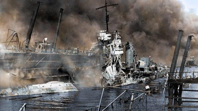 """Imazhet kolor të sulmit më të përgjakshëm mbi ushtrinë amerikane në """"Pearl Harbor"""" (Foto)"""