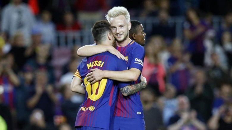 Rakitic: Urime për 'Topin e Artë' Cristiano, por Messi mbetet më i miri i historisë
