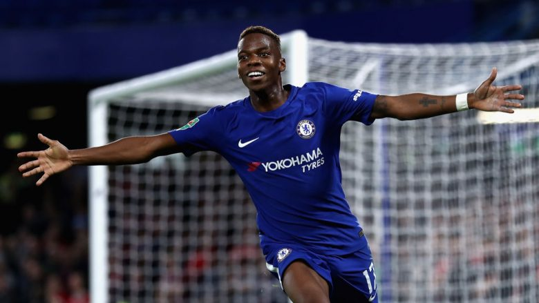 LONDON, ENGLAND - SEPTEMBER 20:  Charly Musonda of Chelsea celebrates after scoring during the Carabao Cup Third Round match between Chelsea and Nottingham Forest at Stamford Bridge on September 19, 2017 in London, England.  (Photo by Bryn Lennon/Getty Images)