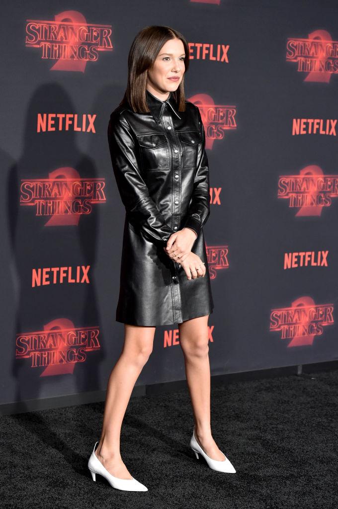 """Image result for Aktorja 13-vjeçare Millie Bobby Brown me 11 milionë ndjekës në """"Instagram"""""""