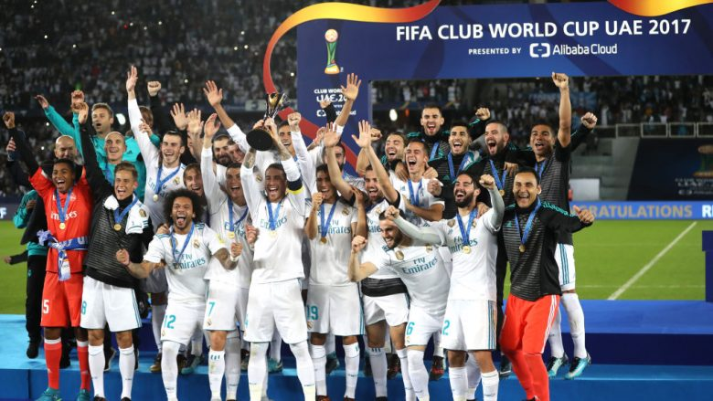 during the FIFA Club World Cup UAE 2017 Final between Gremio and Real Madrid at the Zayed Sports City Stadium on December 16, 2017 in Abu Dhabi, United Arab Emirates.