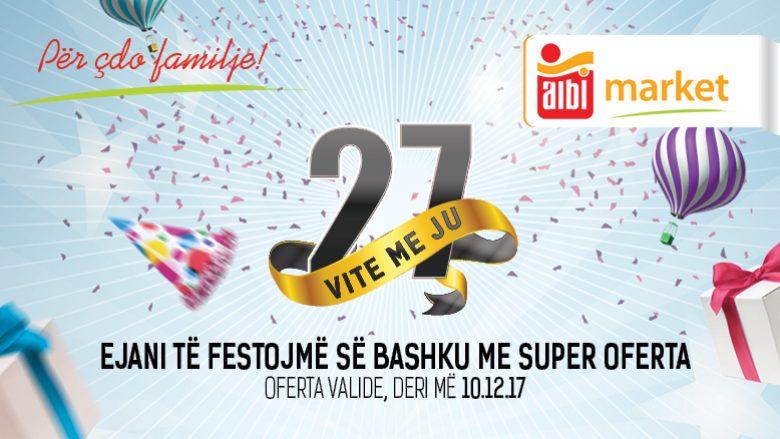 27 vjet të kthyera në traditë, shërbim, sukses, kualitet dhe përkushtim. Albi Market, vendi i familjes tuaj!