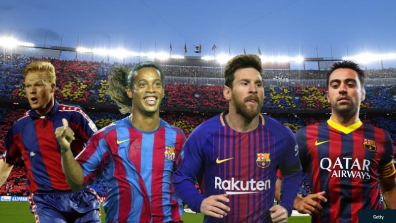 Messi, Cruyff dhe Ronaldinho – 11 lojtarët më të mirë në histori të Barcelonës (Foto)