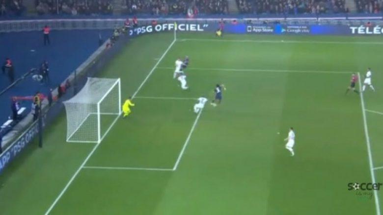 Mbappe kalon tre lojtarë, asiston te Edinson Cavani që shënon gol me thembër (Video)