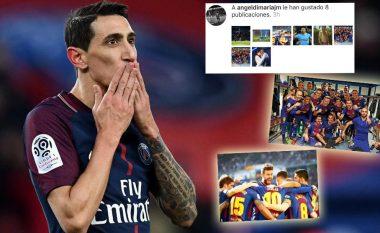 Di Maria 'tradhton' ish-skuadrën, pëlqen fitoren e Barçës në El Clasico ndaj Realit (Foto)