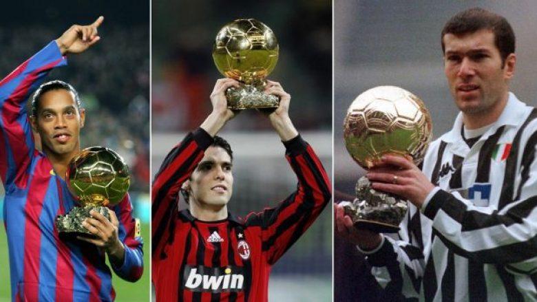 Tetë futbollistët e vetëm që kanë fituar Kupën e Botës, Ligën e Kampionëve dhe Topin e Artë