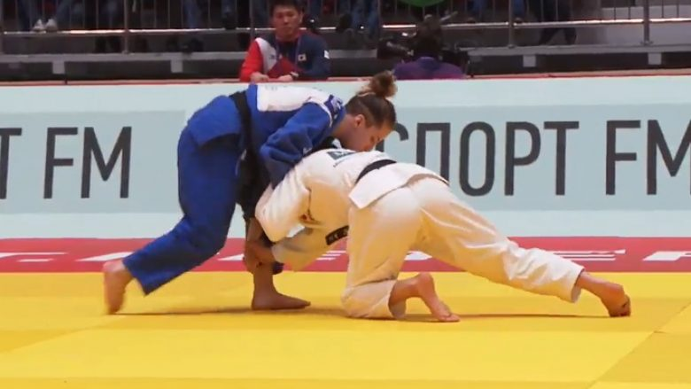 Xhudistja Distria Krasniqi fiton medaljen e bronztë në Rusi