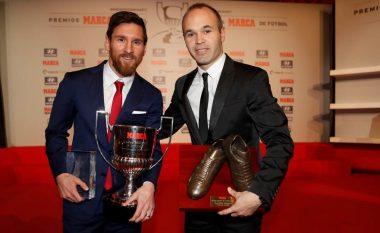 Messi fiton Pichichin dhe zgjidhet lojtari i sezonit në La Liga, Iniesta lojtari më i mirë spanjoll (Foto)