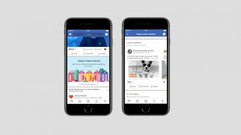 Facebook do të ofrojë rubrikën 'Today In'