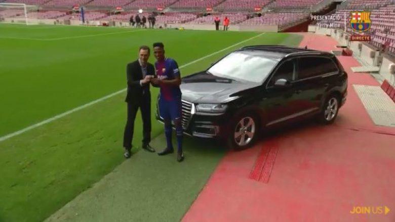 Yerry Mina pas prezantimit te Barça shpërblehet me një Audi