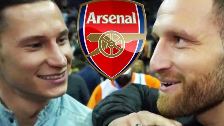 Mustafi dhe Kolasinac 'transferojnë' Draxlerin te Arsenali, gjermani thotë se i pëlqen Londra