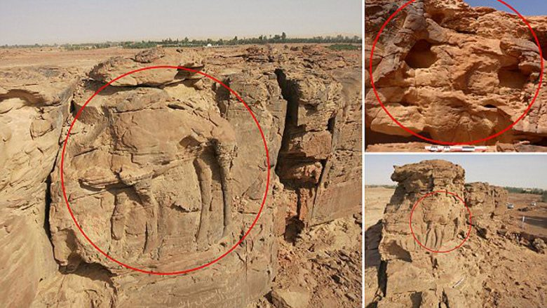 Në Arabinë Saudite zbulohen skulpturat gjigante të deveve që janë mbi 2 mijë vjet të vjetra (Foto)