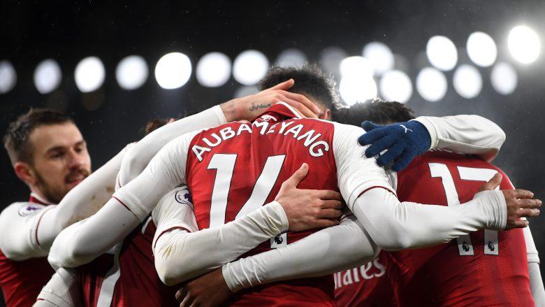 Pierre Emerick Aubameyang debutoi em gol në Emirates (Getty Images)