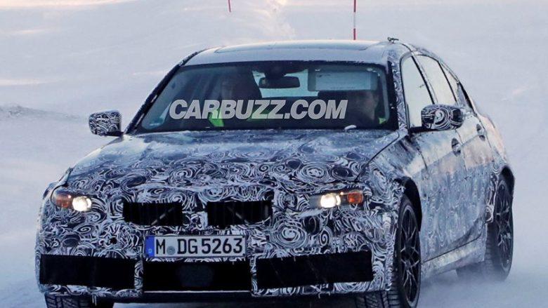 BMW M3 i ri, fotografohet gjatë testimit në borë (Foto)