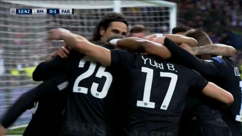 PSG në epërsi ndaj Realit, Rabiot shënon pas asistimit me thembër nga Neymari
