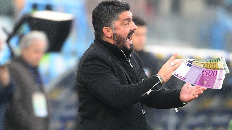Gattuso 'i varfër', por i lumtur, italiani është trajneri me rrogën më të vogël në Serie A