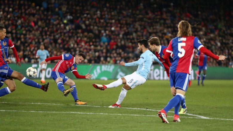Notat e lojtarëve, Basel 0-4 Manchester City: Gundogan yll, Xhaka më i vlerësuari te vendasit