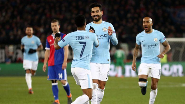 City me një këmbë në çerekfinale, e nëpërkëmb Baselin në ndeshjen e parë (Video)