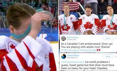 Kanadezja refuzon të mbaj medaljen e argjendtë pas humbjes në finale të hokejit nga SHBA-të në LOD Pyeongchang 2018 (Foto/Video)