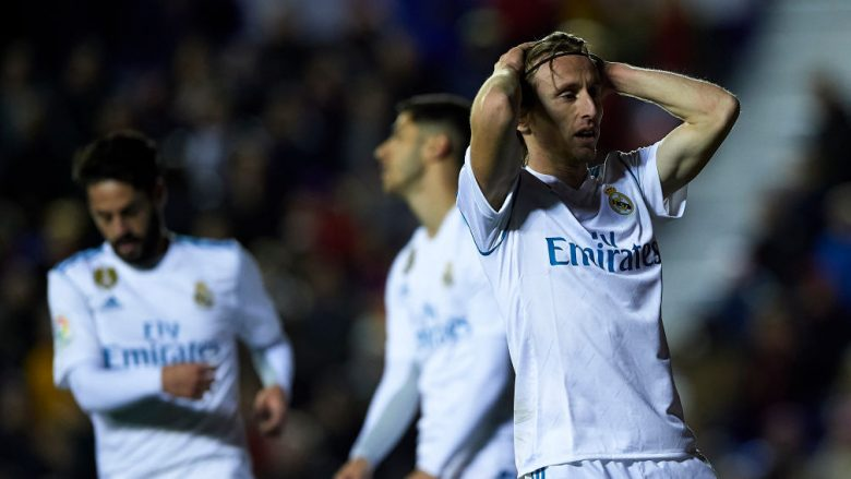 Reagimi i Luka Modric në ndeshjen ndaj Levantes (Getty Images)