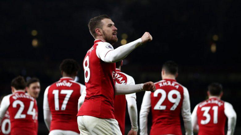 Ramsey bëri het-trik ndaj Evertonit (Getty Images)
