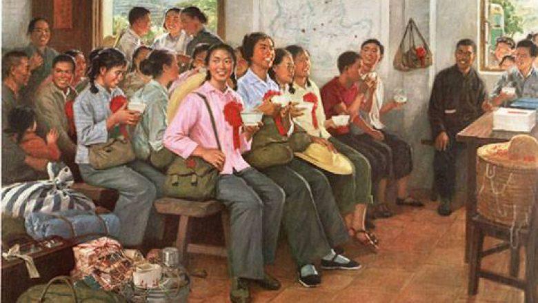 Posterët e propagandës kineze: Lart në male e poshtë në fshatra (Foto)