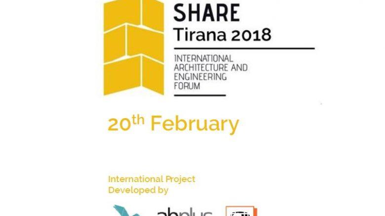 """Në forumin për arkitekturë """"Share Tirana 2018"""" marrin pjesë edhe arkitektë nga Maqedonia"""