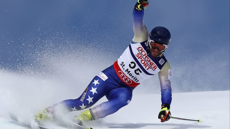ST MORITZ, SWITZERLAND - FEBRUARY 17:  Albin Tahiri of Kosovo competes in the Men's Giant Slalom during the FIS Alpine World Ski Championships on February 17, 2017 in St Moritz, Switzerland.  (Photo by Julian Finney/Getty Images)