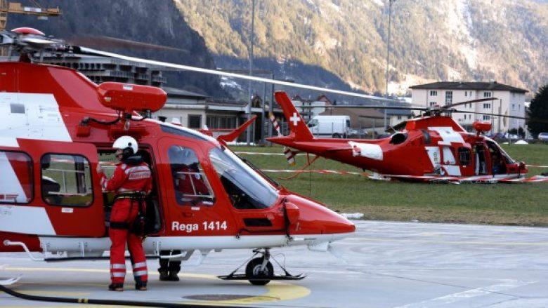 Kosovarja në Zvicër përplaset me makinë në shtyllën elektrike, e bartin në spital me helikopter