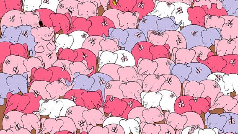 A mund ta gjeni zemrën e fshehur mes elefantëve? (Foto)