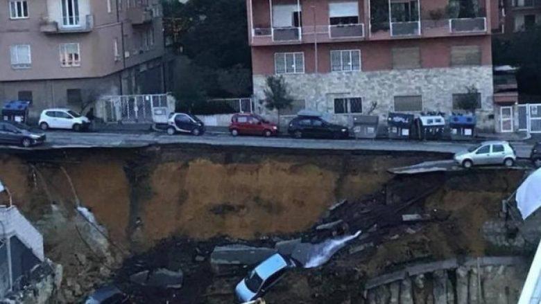 Çahet asfalti në Romë, dhjetë automjete 'përpihen' nga gropa e hapur (Foto)