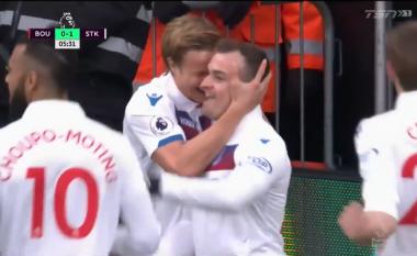 Shaqiri kalon Stoke Cityn në epërsi ndaj Bournemouthit (Video)