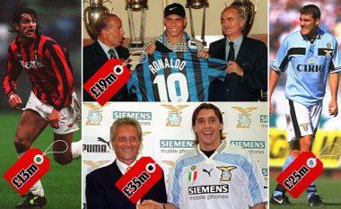 Për shumë tifozë transferimet e shtrenjta të Ligës Premier janë 'çmenduri', por Serie A në vitet e 90-ta thyente rekorde –Blerjet e mëdha nga Lentini te Crespo