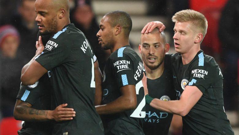 Stoke City 0-2 Man City, nota e Shaqirit dhe të tjerëve