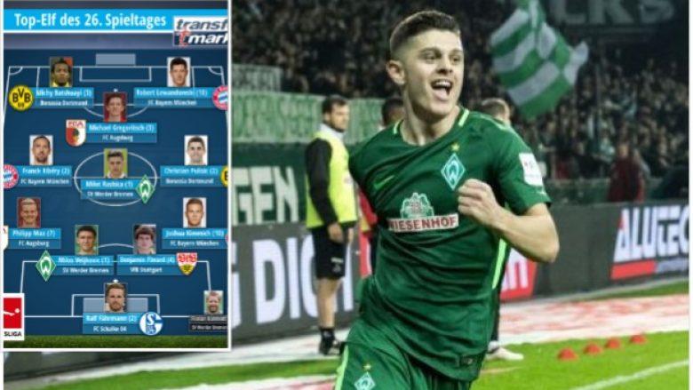 Rashica në formacionin e javës në Bundesliga me yje si Ribery, Lewa e Pulisic (Foto)
