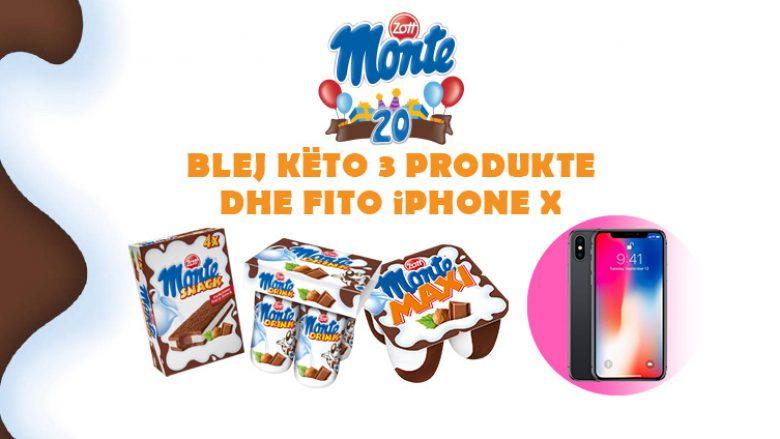 Luani me Monte dhe bëhuni fitues i iPhone X dhe shumë dhuratave të tjera