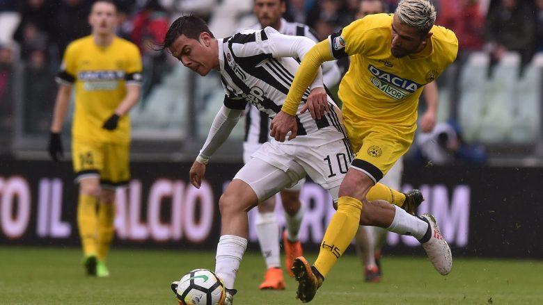 Juventus 2-0 Udinese: Notat e lojtarëve, ylli i ndeshjes Dybala