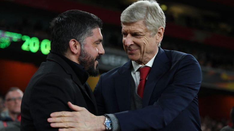 Wenger: Komplimentet e mia për Milanin, Gattuso ka bërë një punë të jashtëzakonshme