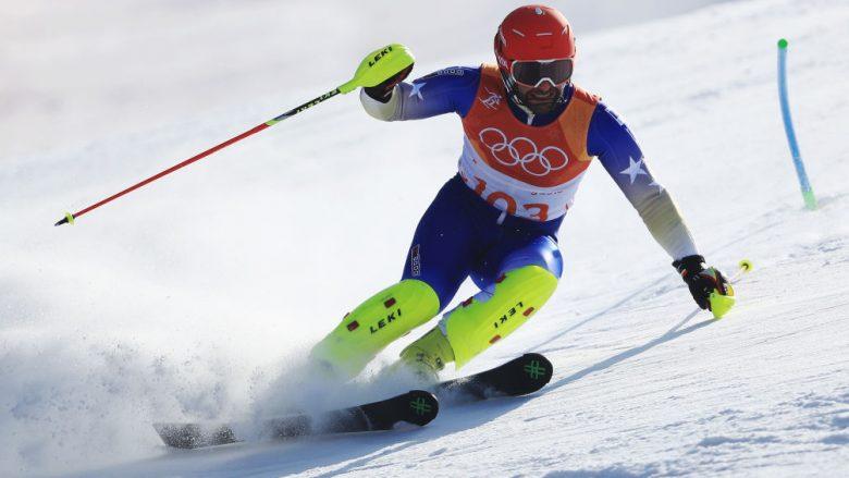 Albin Tahiri doli nga shtegu, nuk e përfundoi garën e sllallomit në Slloveni