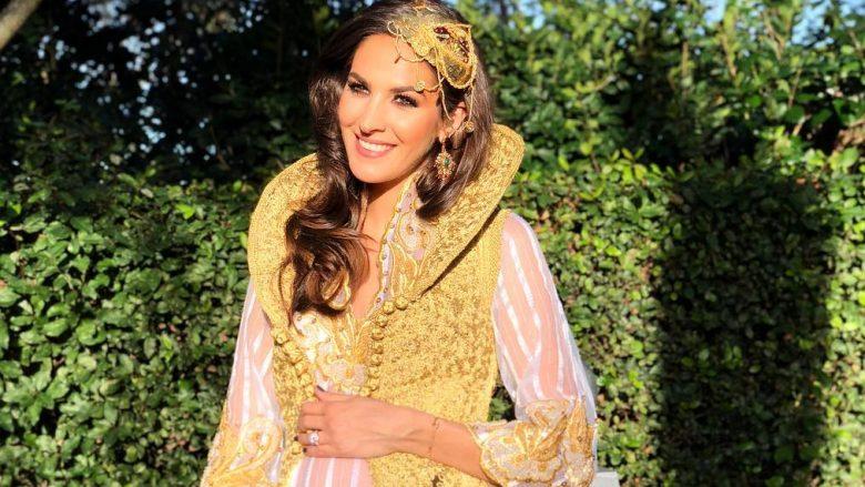 Emina Çunmulaj sjell të plotë setin fotografik ku shfaqet shtatzënë dhe me veshje kombëtare