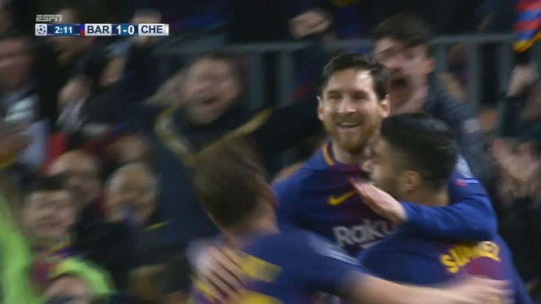 Kalojnë dy minuta lojë dhe Messi i shënon Chelseat në Camp Nou