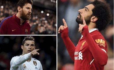 Salah: Nuk jam një nivel me Messin dhe Ronaldon