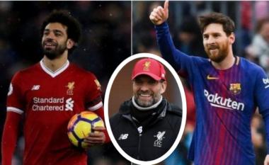 Klopp: Salah mund të bëhet njëri nga më të mirët në botë, por nuk i ndihmojnë krahasimet me Messin