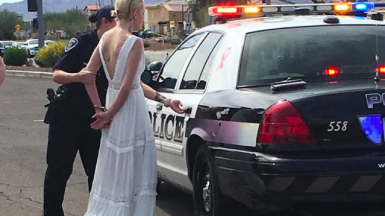 Ishte duke shkuar në dasmë, arrestohet nusja pasi shkaktoi aksident – dyshohej se ishte e dehur (Video)