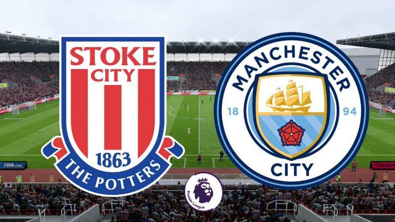 Stoke City – Man City: Formacionet zyrtare, Shaqiri titullar