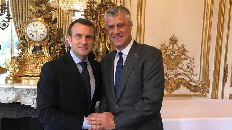 Thaçi takon presidentin francez: Kosova i është mirënjohëse Francës për ndihmën ndaj Kosovës