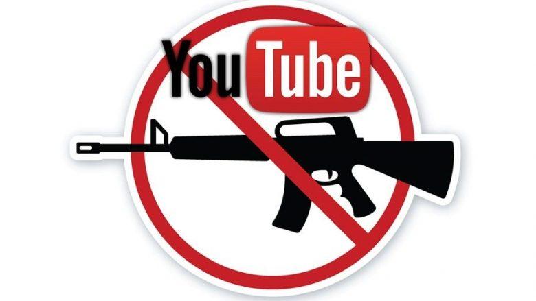 YouTube ndalon promovimin dhe shitjen e armëve
